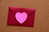 Heart Shaped Paper Notes With Envelope