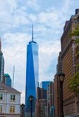 Lower Manhattan with Tower New York City USA