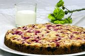 Currant Souffle With A Glass Of Milk