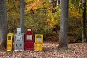Newspaper Boxes At Woods