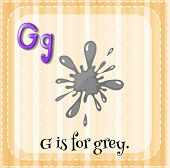 Illustration of a letter G is for grey