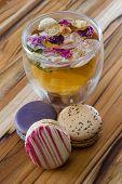 Rose Tea And Macaroons