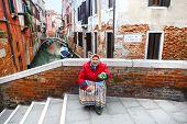 Woman Beggar In Venice