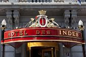 THE HAGUE,NETHERLANDS - AUGUST 3, Historic Hotel des Indes in central district