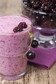 Smoothies Of Blackberry And Black Currant With Yogurt  .