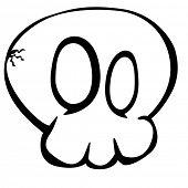 simple illustration of cartoon skull sketch, eps10 vector