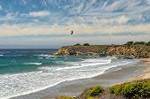 Kitesurfing on the coast of California