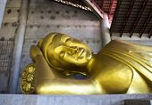 stock photo of buddha  - statue of Buddha at public temple - JPG
