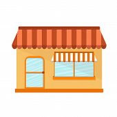Vector illustration with flat store building