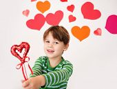 Valentine's Day Hearts And Kids Fun