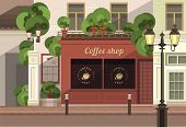 picture of social housing  - a small coffee shop on the streets of the old town - JPG