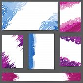 Set Of Designs Banners With Blots Of Paint