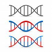 DNA symbol set art