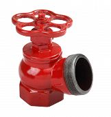 Red Cast Iron Indoor Fire Hydrant Valve With Male Thread