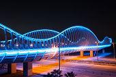 Dubai Meydan Bridge At Night