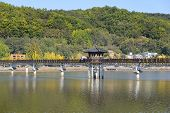 picture of andong  - Wolryeong bridge across Nakdong river in Andong city - JPG