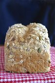picture of home-made bread  - A loaf of home made wholemeal bread - JPG
