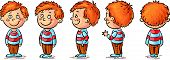 image of cartoon character  - Little boy cartoon character turnaround - JPG