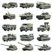 image of armored car  - Armoured military vehicles Russia isolated on white background - JPG
