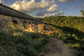 stock photo of aqueduct  - El Pont del Diable - JPG