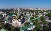 stock photo of kiev  - aerial view of Kiev - JPG