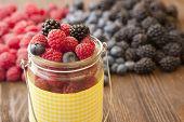 stock photo of blackberries  - different berries  - JPG