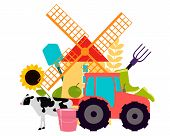 stock photo of tractor  - Abstract background Agriculture - JPG