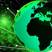 stock photo of globalization  - Europe Africa Globe Indicating Globalize Global And Planet - JPG