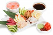 picture of korean  - Sashimi seafood assortment with hot sauce - JPG