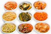 stock photo of zucchini  - Spicy salads of traditional Korean cuisine - JPG