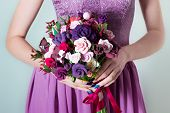pic of purple rose  - bouquet for the bride - JPG