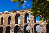 stock photo of aqueduct  - Aqueduct at Istanbul Turkey  - JPG