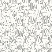 stock photo of quirk  - seamless pattern curls line on a light background - JPG