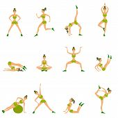 picture of surya  - Vector yoga illustration - JPG