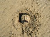 Face In The Sand