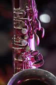 tenor sax close up