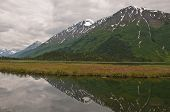 Mountain Reflection On Kenai Marsh