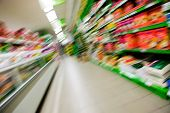 Abstract Grocery Store Blur