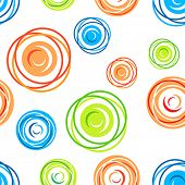 Colorful seamless tangles pattern on white background