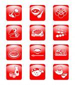 J-comida tradicional: sushi, miso siru, rollos, temaki (rollos de mano), sashimi, yakitori (a la parrilla), habitación