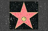 Hollywood walk of fame: recording blank star