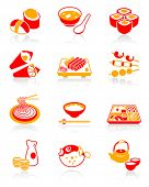 Japanese sushi-bar or restaurant icons