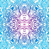 Psychedelic seamless abstract pattern in blue