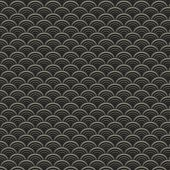Retro japanese waves seamless pattern in dark colors