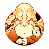 Hotei is one of Seven Lucky Japan Gods - God of Contentment & Happiness