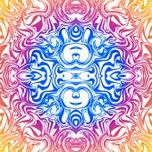 Psychedelic seamless abstract pattern in deep colors