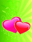 Valentines day floral background