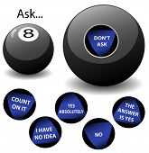 picture of oracle  - none of the answers on this virtual oracle eight ball are the same as those which appear on any other magic 8 ball toy - JPG