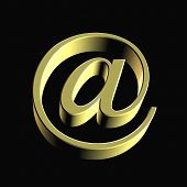 Internet Email @ Sign Gold