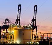 High Dynamic Range Impression of storage tanks and cranes